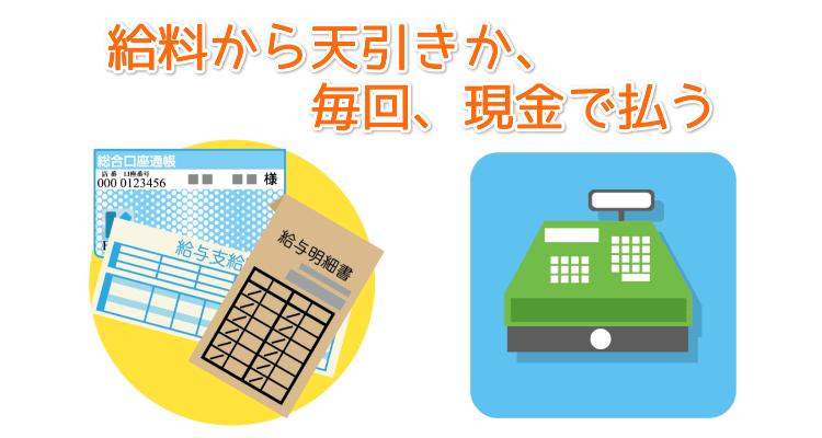 貯金通帳と給料明細とレジ