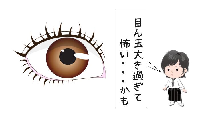 カラコンをした目
